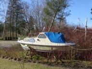 vores gamle båd i haven