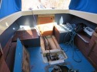 bunden ude af vores båd